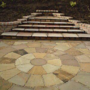 Autumn Brown Sandstone Circle