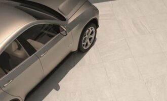why porcelain paving works - car on pavement